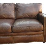 amazing distressed brown leather sofa