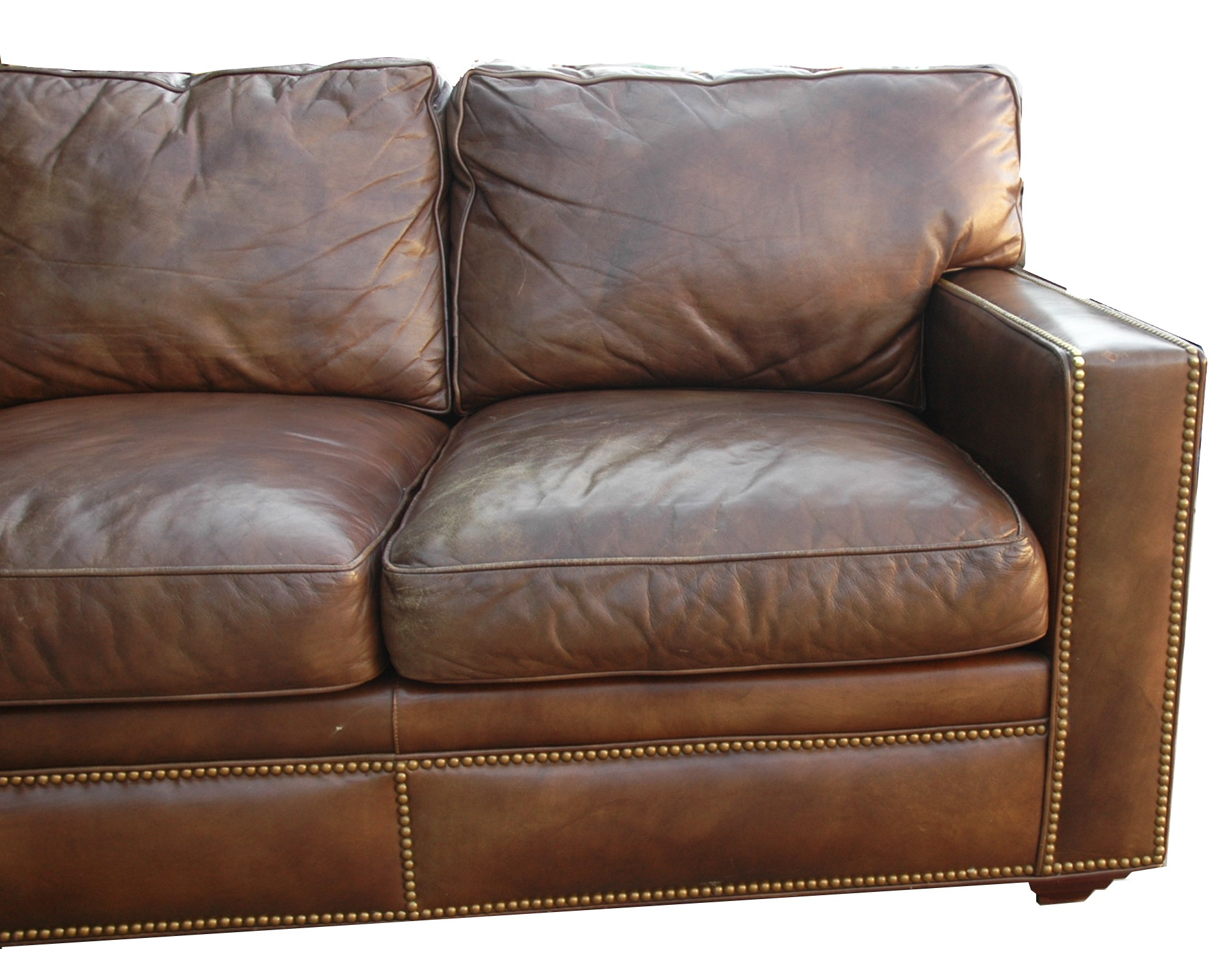Delightful Amazing Distressed Brown Leather Sofa