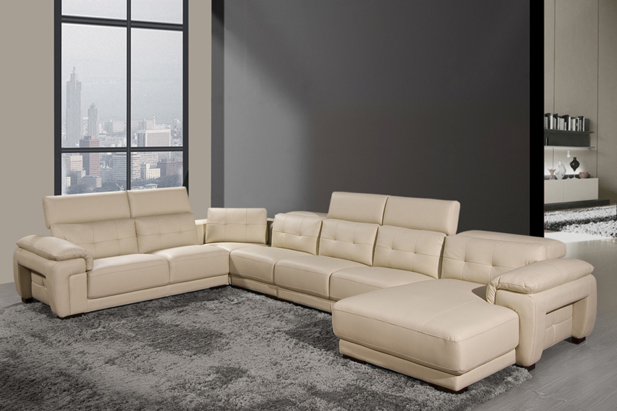 Amazing Living Room With Best Sectional Sofa For The Money Made Of Leather Material And Grey