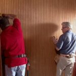 attaching the headboard of bunk