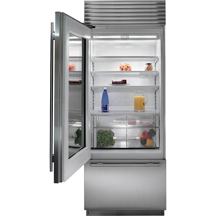 Stylish Design Of Glass Door Refrigerator Residential That