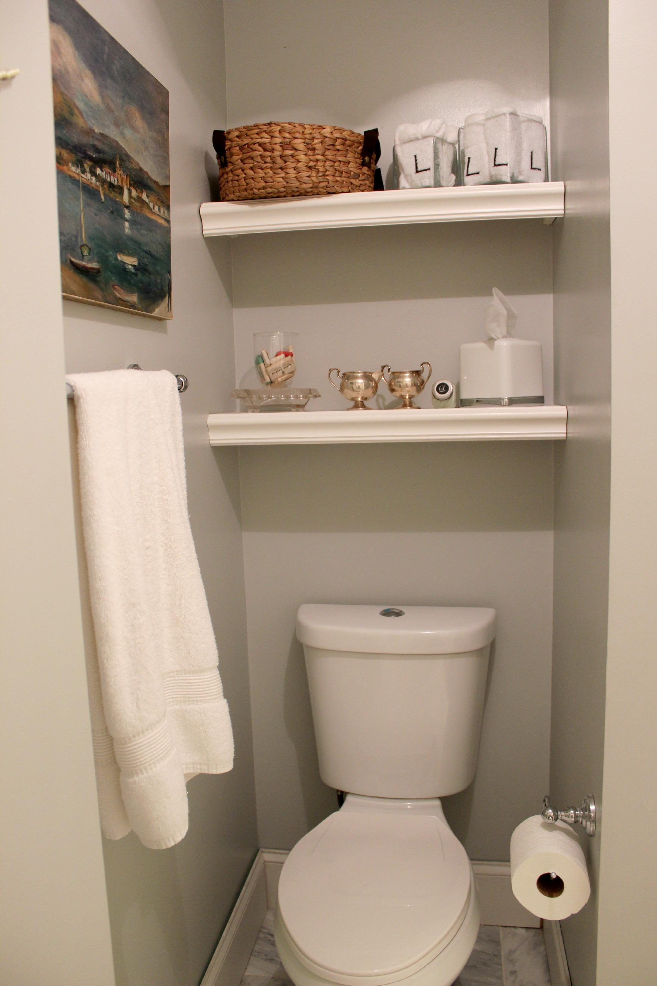 bathroom towel small toilet shelf pic tissue - Bathroom Decorating Ideas For Small Spaces