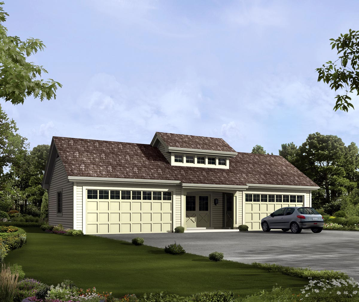 Independent and simplified life with garage plans with for 4 car garage plans with living quarters