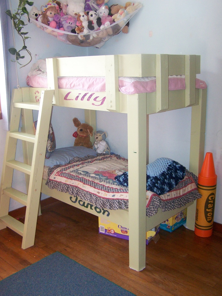 Space saver crib size bunk bed for toddler 2015 trend for Toddler bunk beds