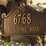 beautiful frame lawn address signs house number and street name beautiful flower front yard