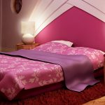 bed bedroom girl pillows lamps table rug