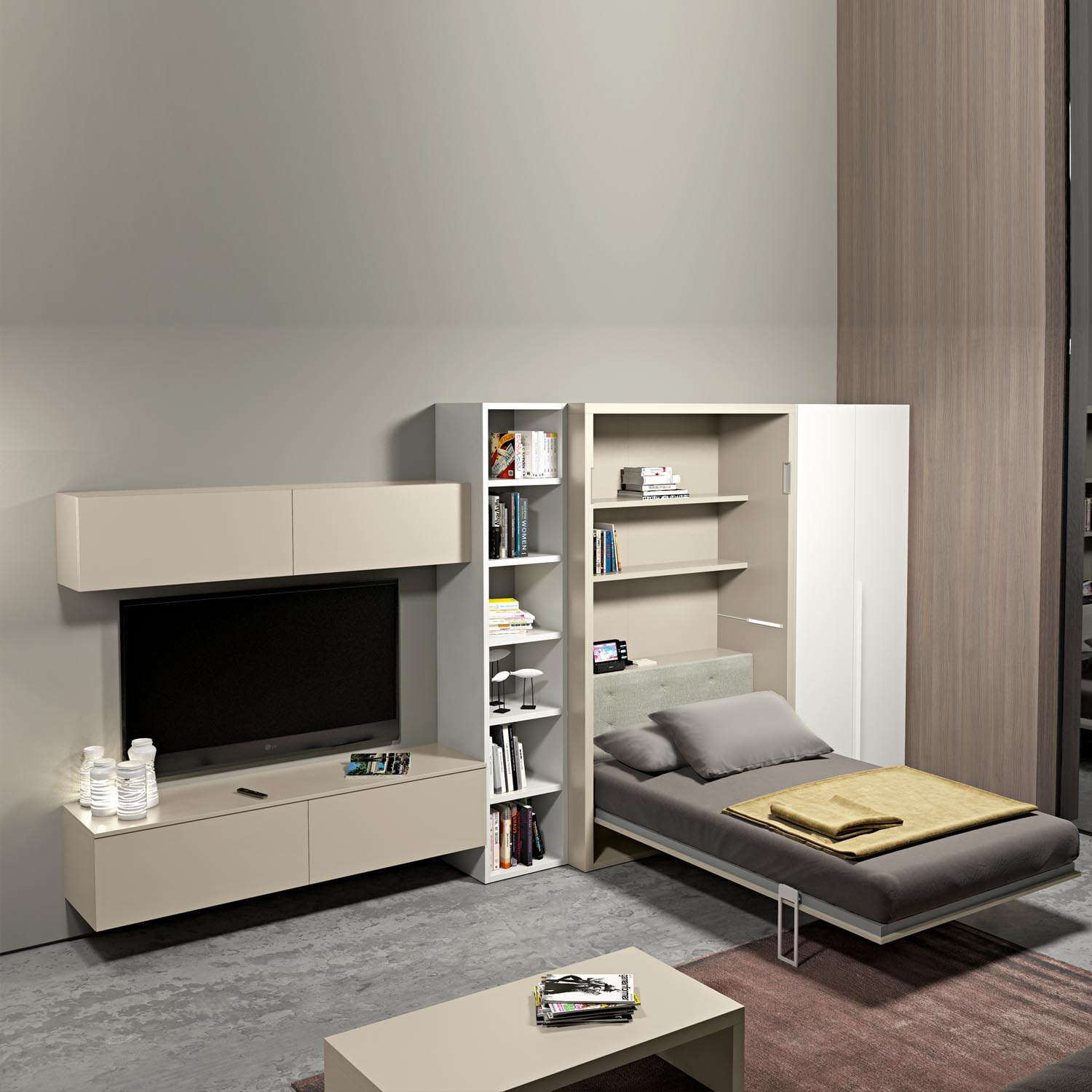 Modular furniture for small spaces homesfeed - Small space convertible furniture image ...