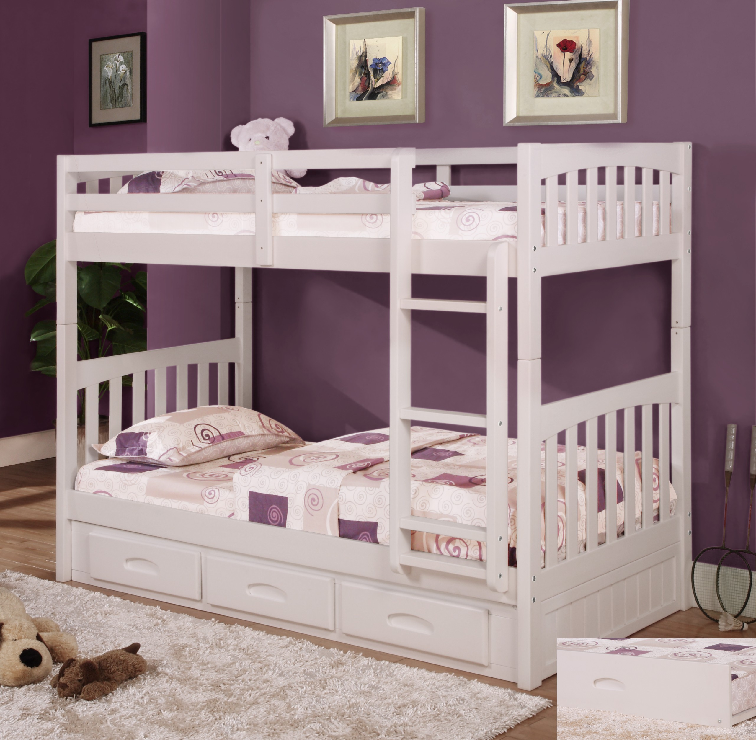 Twin loft bed with storage underneath - Bed Twins Pictures Wall Dools Pillows Blanket Rug Floor Boardwalk Twin Size Storage Loft Bed