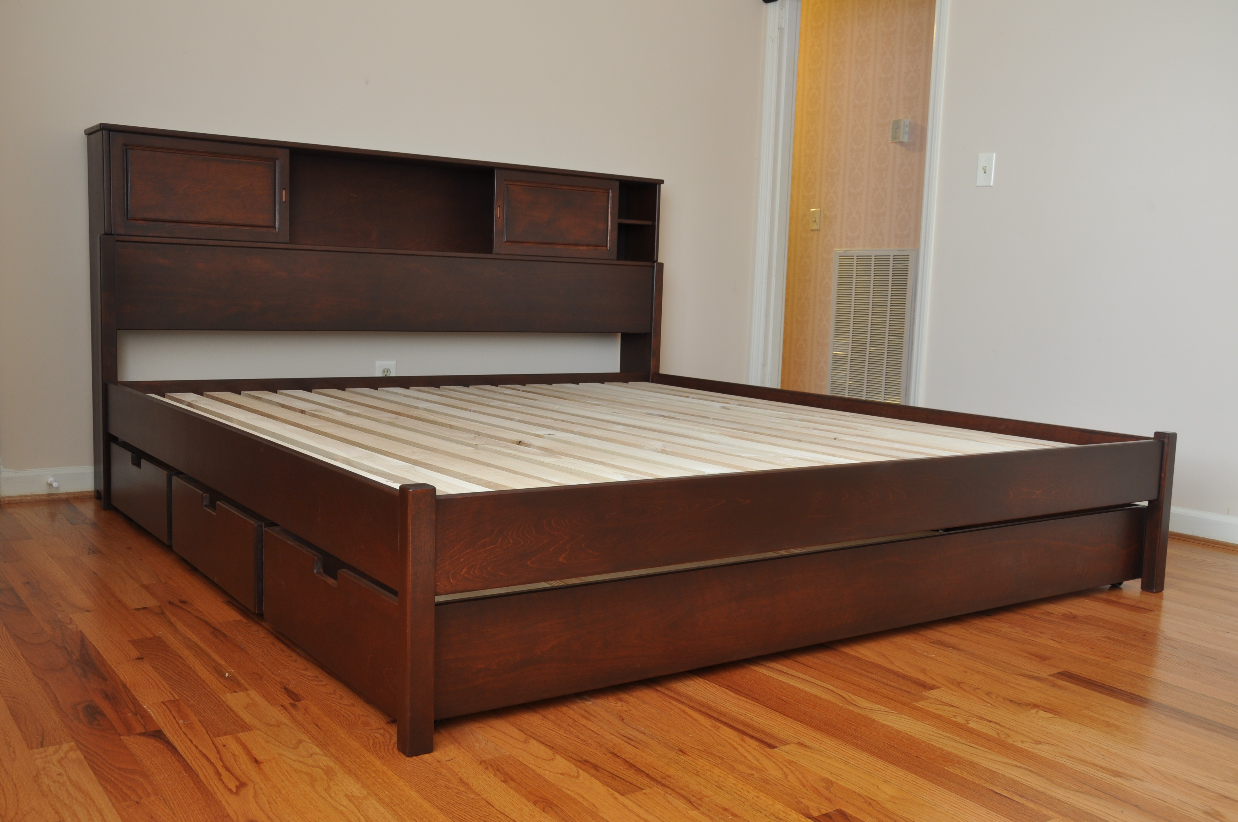 bedroom wood low profile storage drawers plus bookcase headboard queenplatform bed frame. low profile bed frame queen  homesfeed