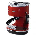 best coffee maker brand designed in stylish red tone with black accent with sophisticated design