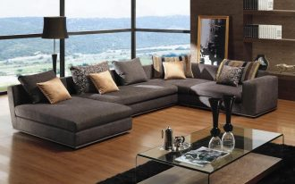 best sectional sofa for the money decorated in wonderful living room ideas with stylish coffee table and black furry rug plus laminate floor and modern book case