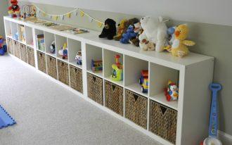 bins storage basket toys dolls rug