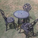 black flowery design cast iron table base for glass top round glass table black cast iron flowery chairs outdoor furniture