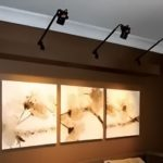 black wall mounted track lighting beautiful flower art pieces