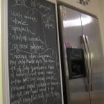 blackboard kitchen refrigerator
