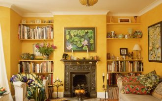 Yellow Contemporary Style Living Room