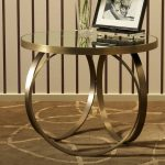 bronze metal unique design table base for glass top modern round glass table table picture accent flower vas accent bronze color carpet