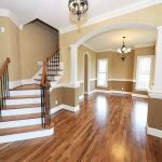 brown interior paint colors for 2014 for home with cool traditional staircase and wooden flooring plus unique ceiling lamp