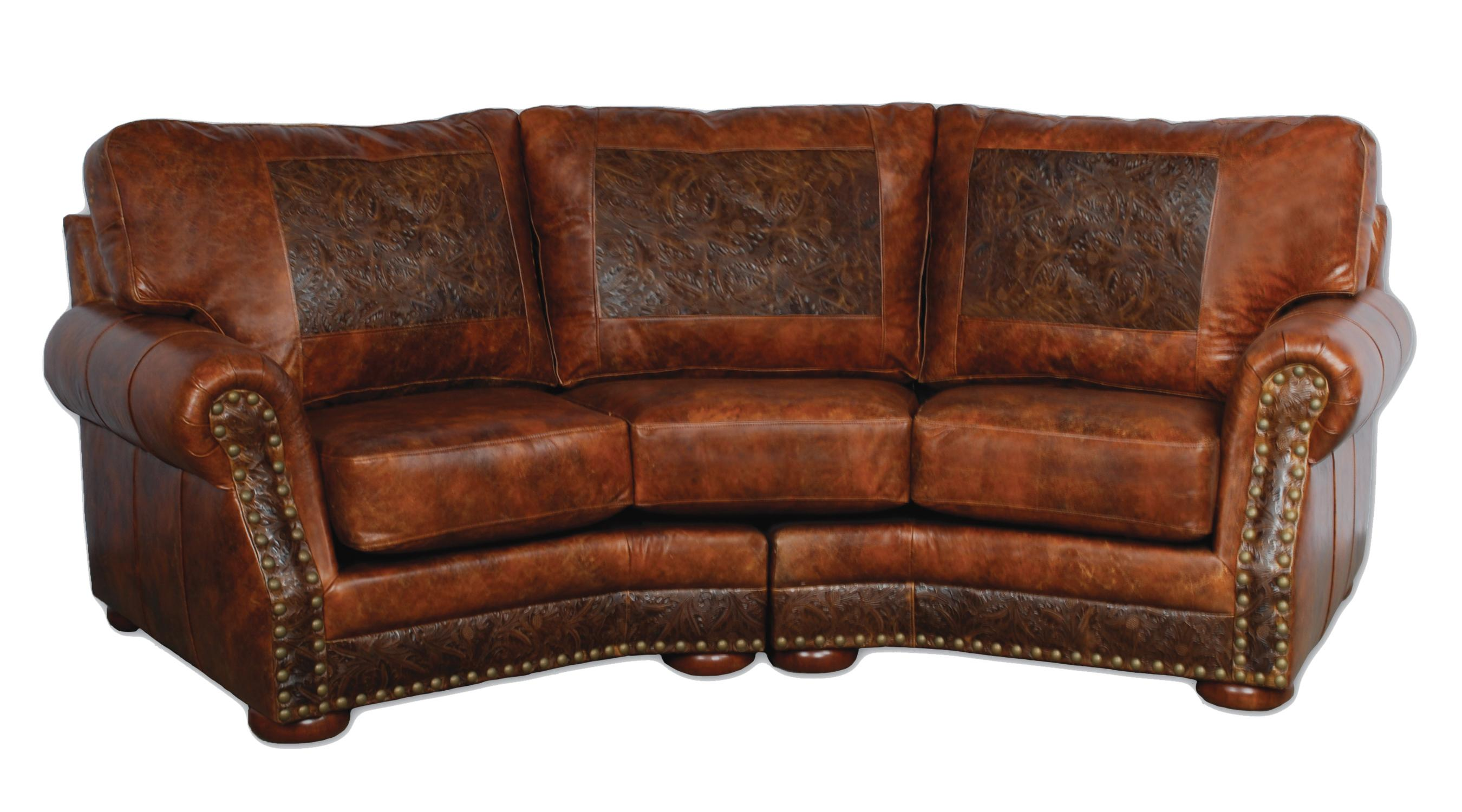 Distressed leather sectional homesfeed Couches and loveseats
