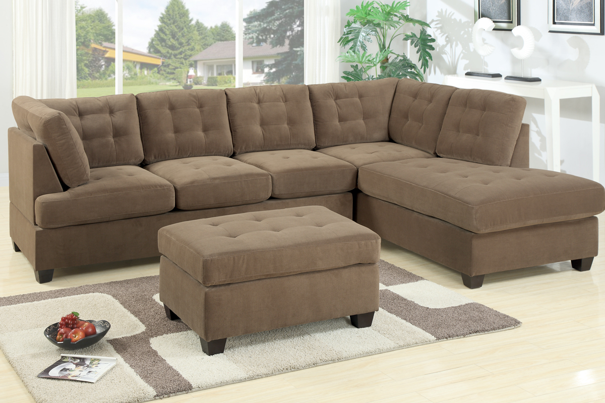 Admirable 2 piece sectional sofas with chaise flooding for Apartment sofa chaise