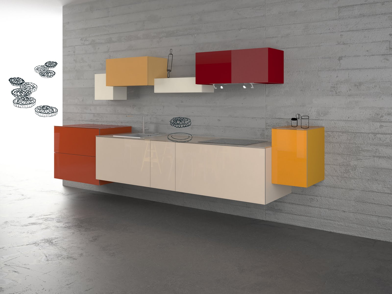 Modular furniture - Cabinet Desk Wall Colors Floor