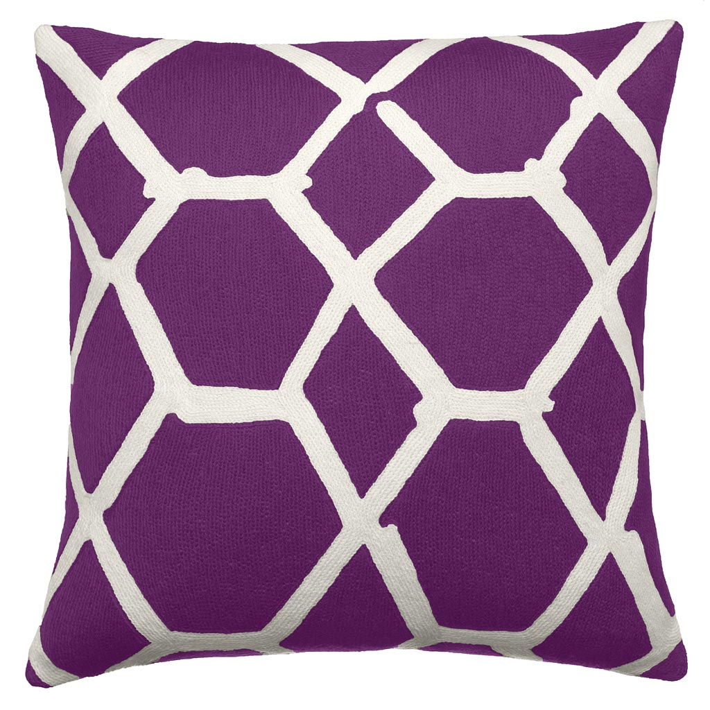 candinavian purple accent pillow idea with geometrical pattern in white tone. purple accent pillow – interior with lovely outlook  homesfeed