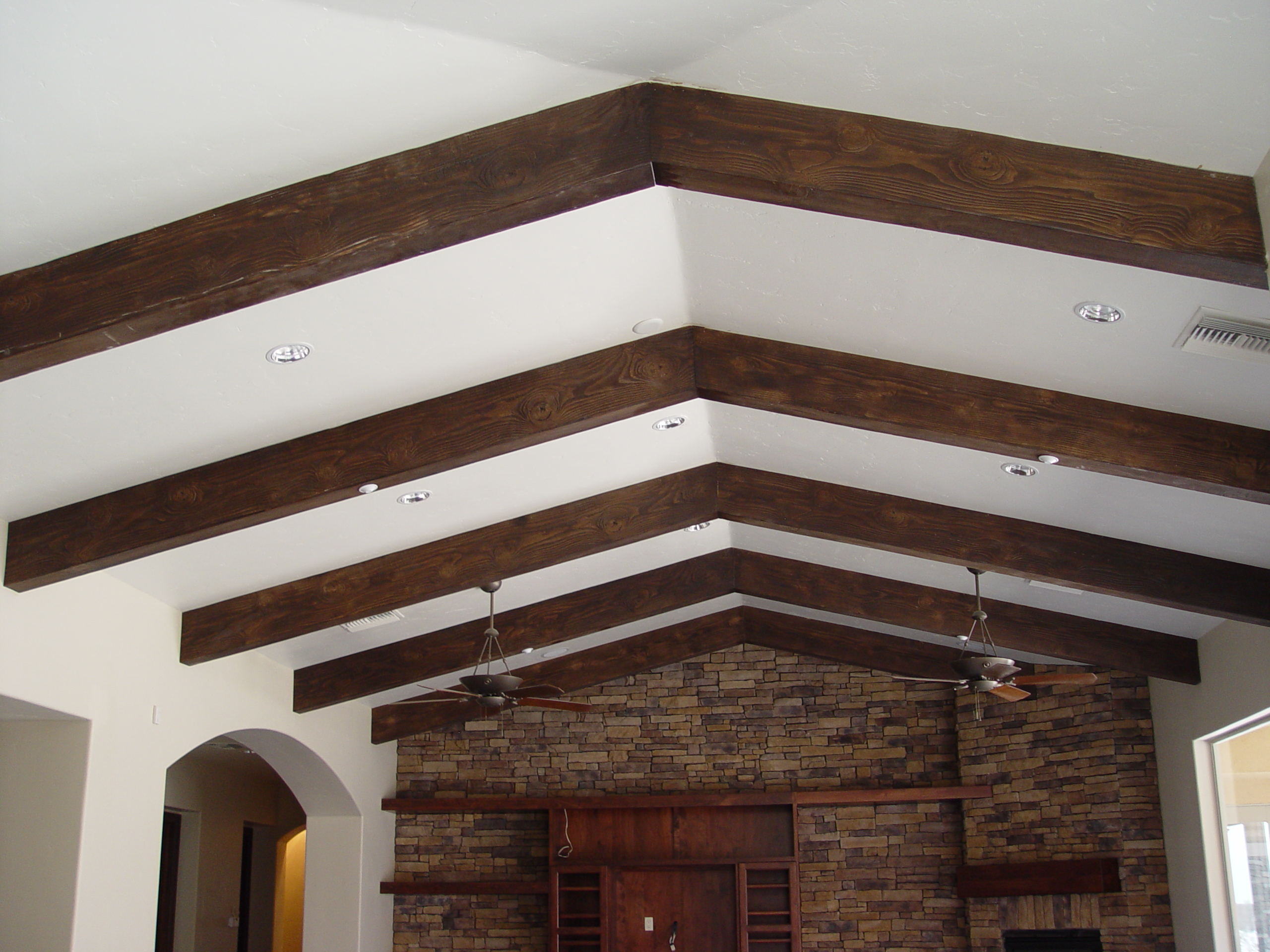 Wood Beam Ceiling Ideas ~ Exposed ceiling beams ideas homesfeed