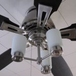 ceiling fan light steel black grey