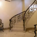 chair stairs handrails lamps floor wall ceiling