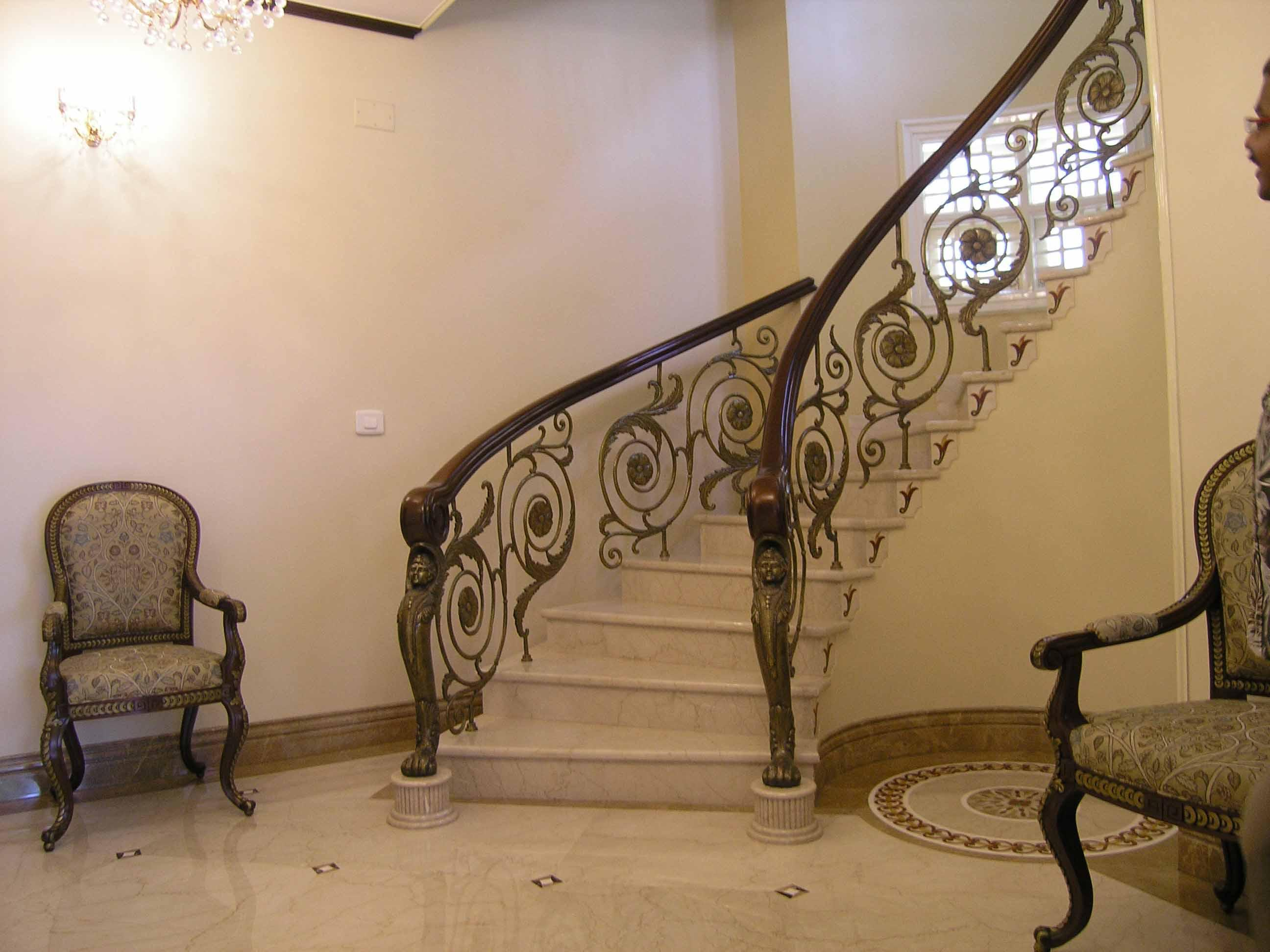 Handrails For Stairs Interior Homesfeed
