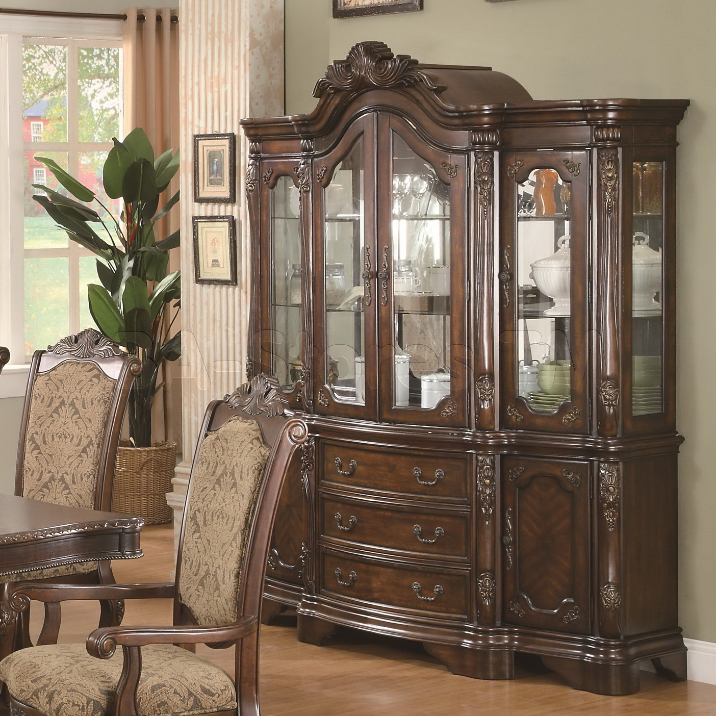 Wood Hutch Dining Room Homesfeed