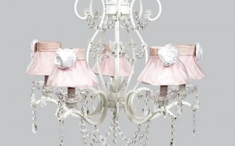 chandelier grace white grace pink ruffled