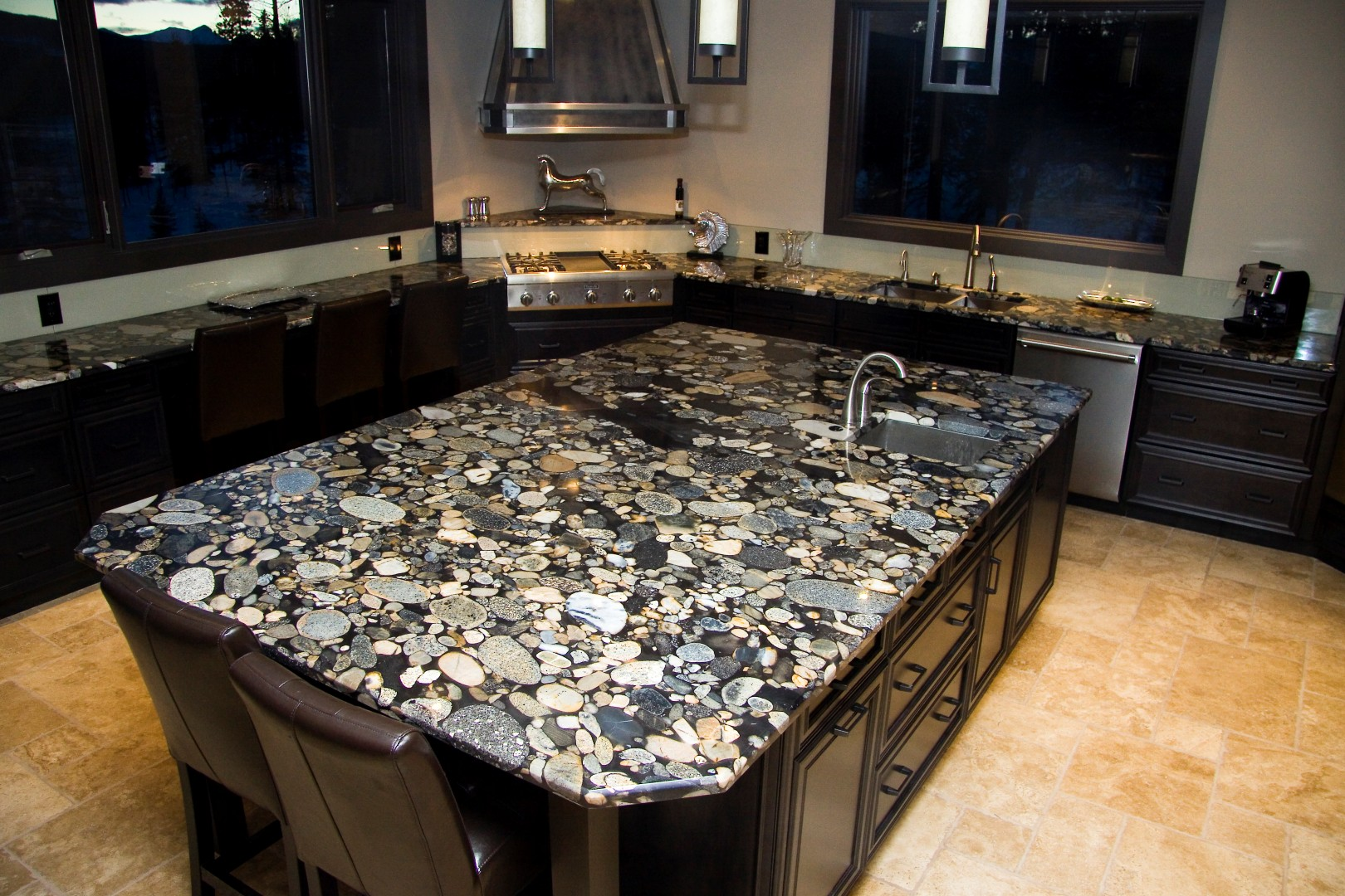Gorgeous inspiring images of granite countertops homesfeed Granite kitchen countertops pictures