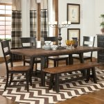 classic black brown wooden ladder back most comfortable dining room wooden dining table classic black candle yellow glasses white motive plates two tones motive carpet