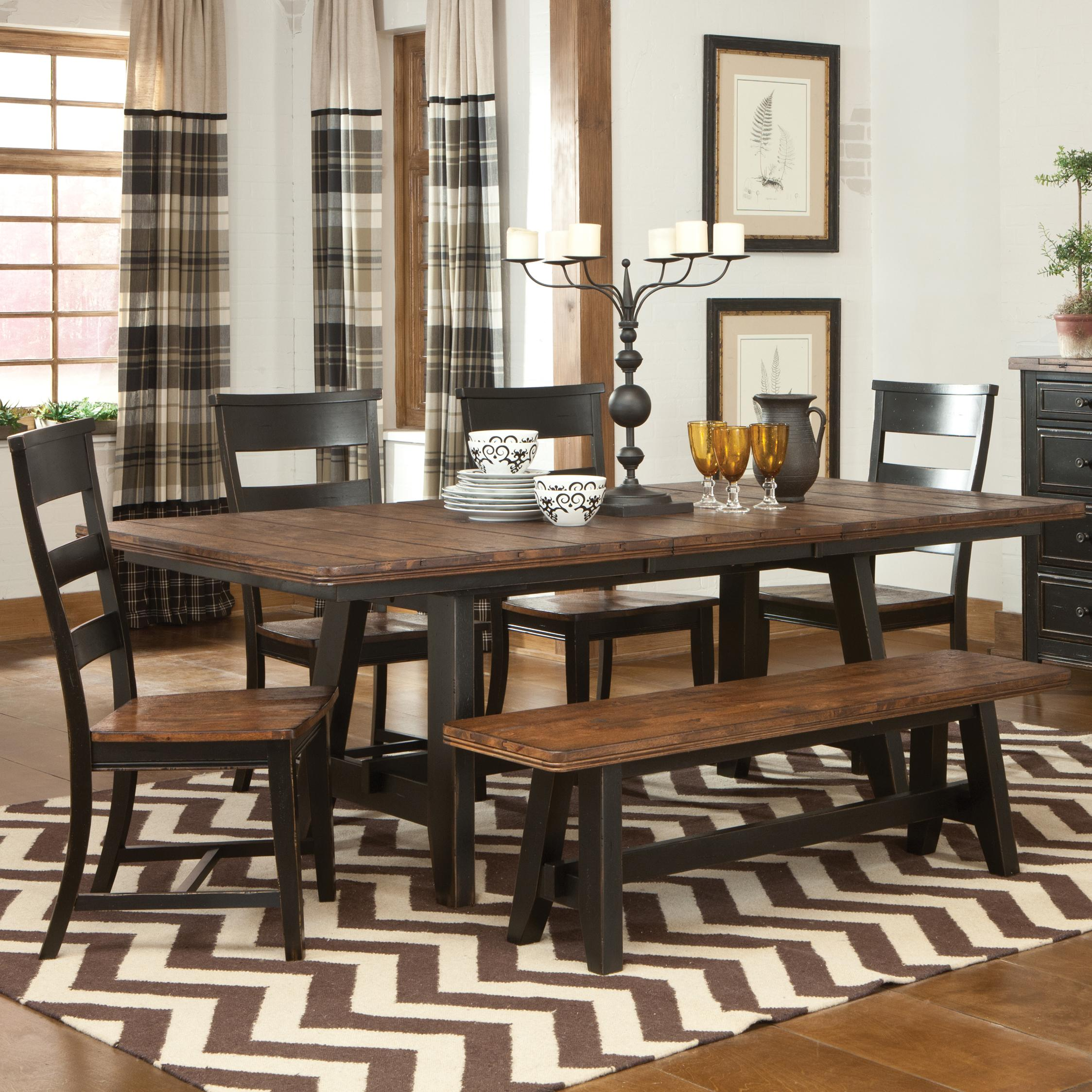 Most Comfortable Dining Chairs for Your Longer Dining  : classic black brown wooden ladder back most comfortable dining room wooden dining table classic black candle yellow glasses white motive plates two tones motive carpet from homesfeed.com size 2247 x 2247 jpeg 566kB