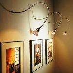 classic modern wall mounted track lighting wall photographs display