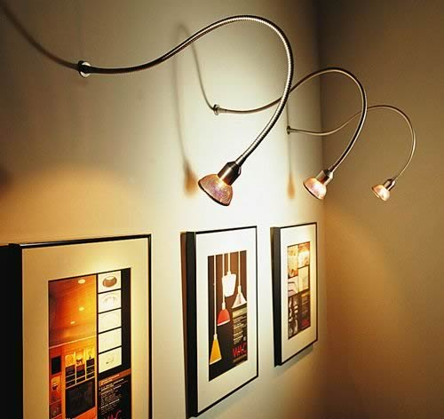 wall mounted track lighting distinctive style lighting. Black Bedroom Furniture Sets. Home Design Ideas