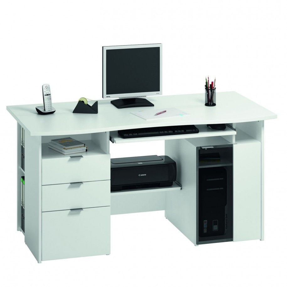 Computer desk with printer storage best storage design 2017 for Best home office computer 2015