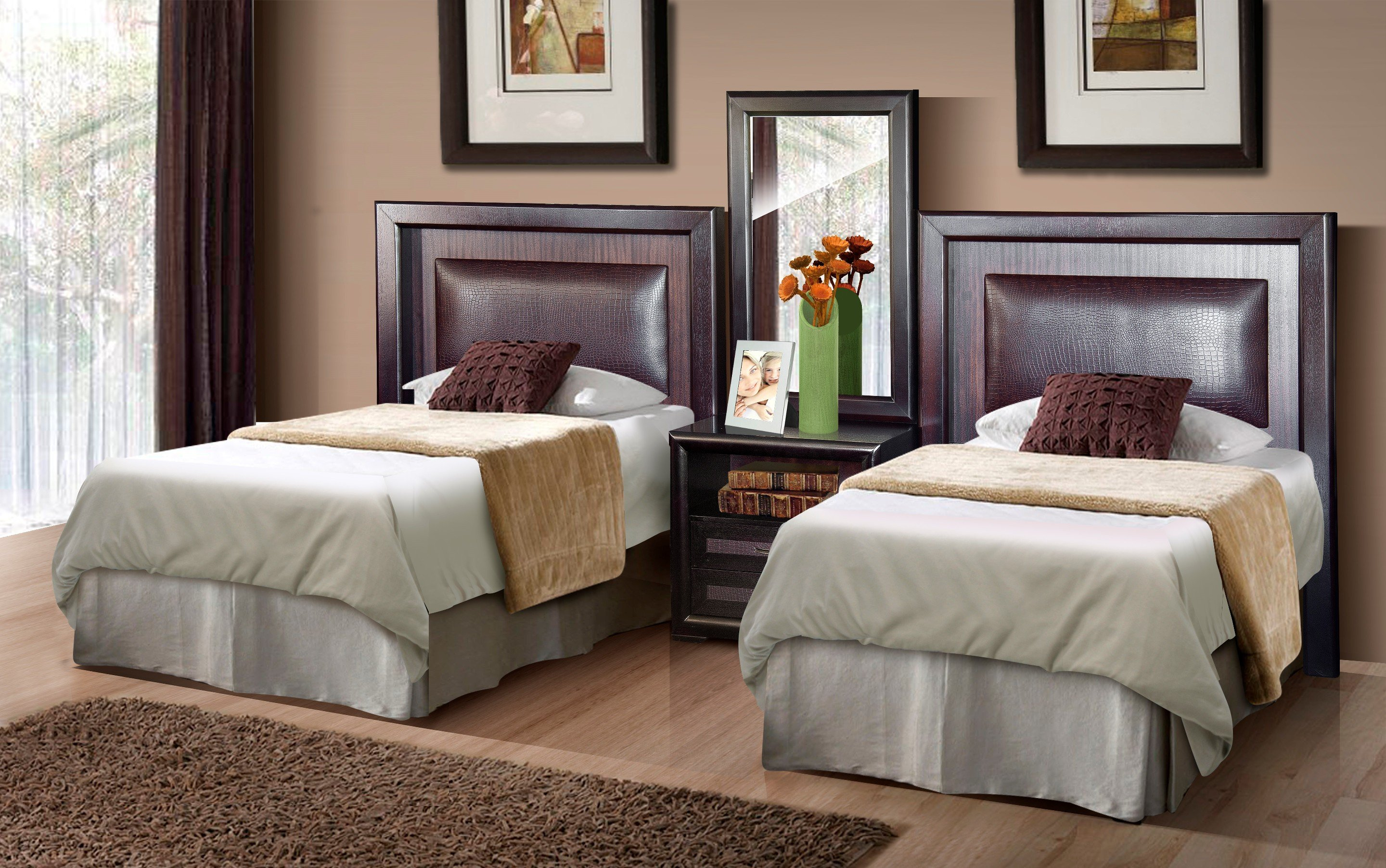Twin headboard for decorative and practical values homesfeed for Bedding room furniture