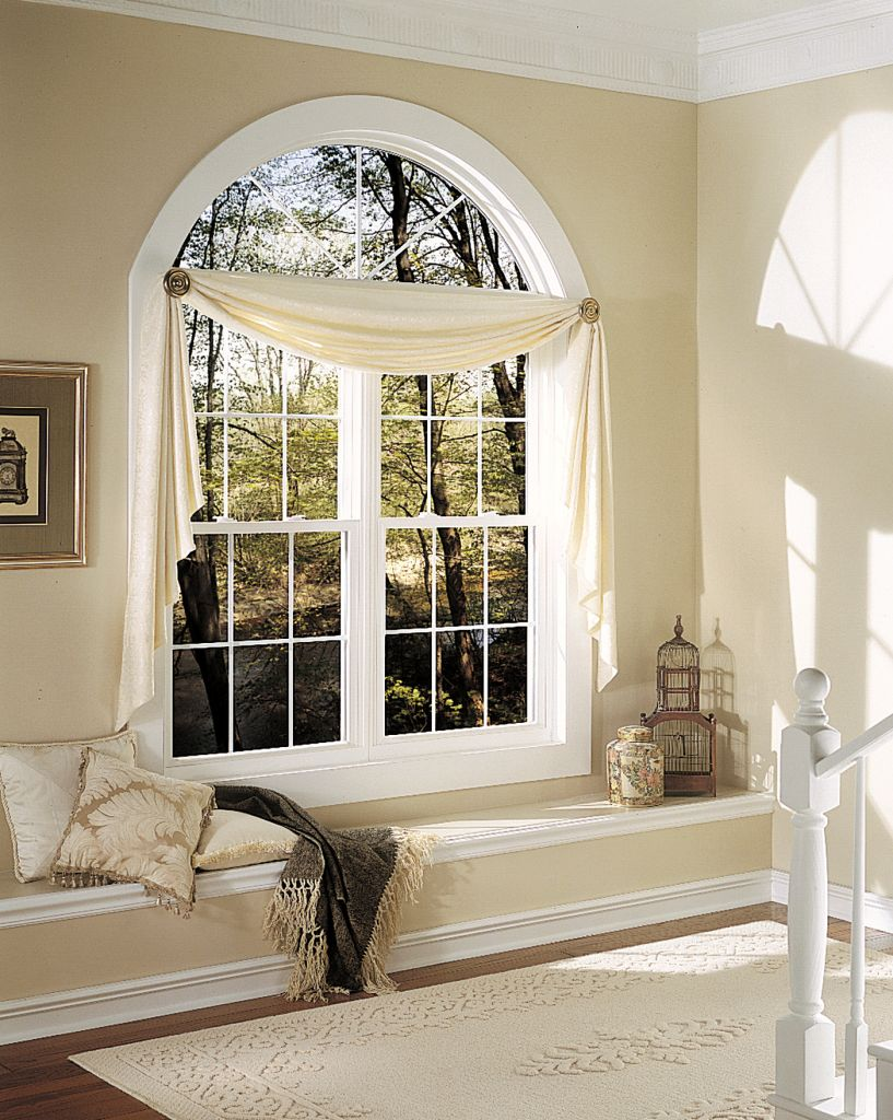 Decorating ideas to window treatments for casement windows - Living room picture window treatments ...