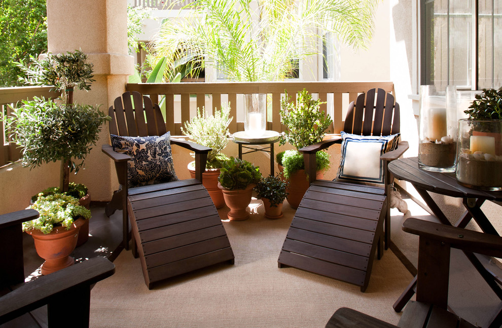 Classic Wooden Brown Walmart Patio Reclining Chairs With Potted Plants And  White Black Cushions
