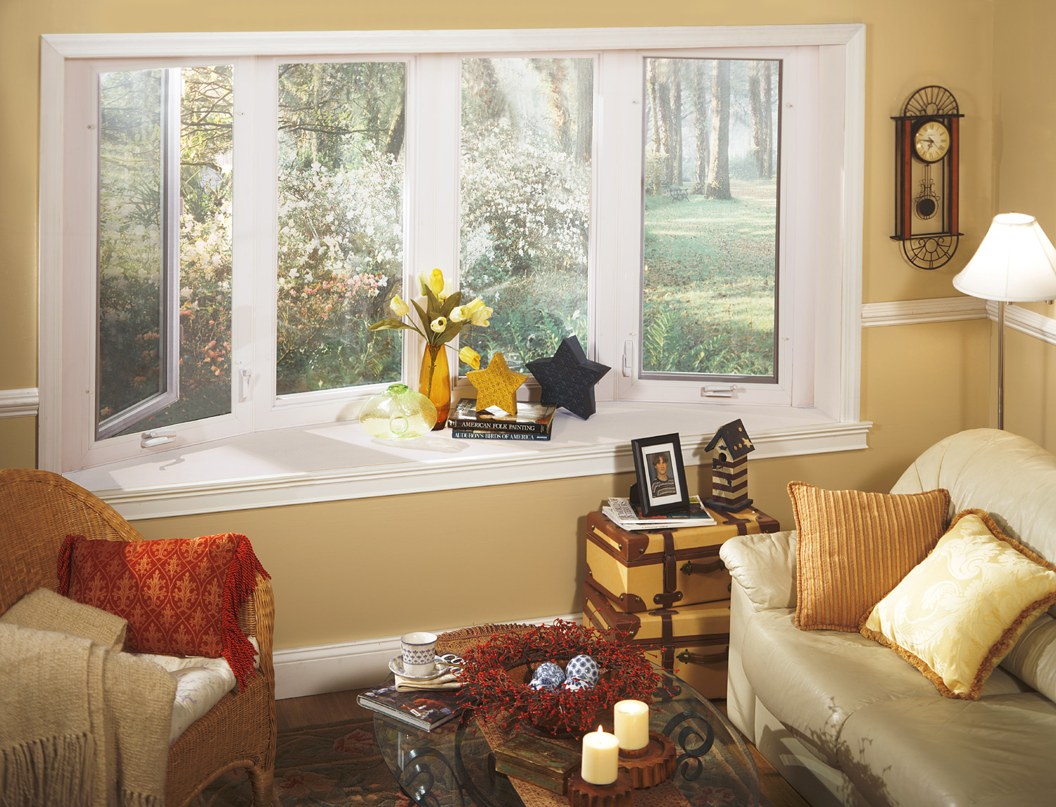 Decorating ideas to window treatments for casement windows Drapery treatments ideas