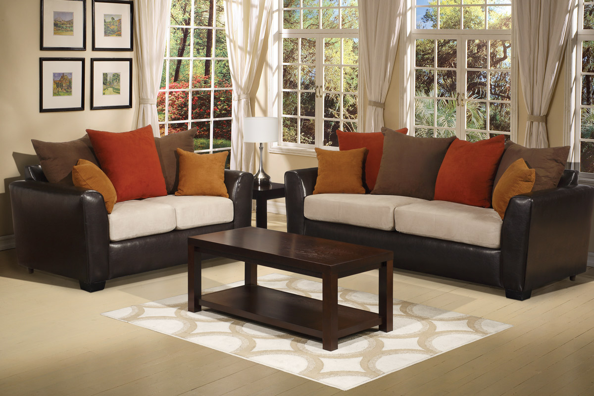 Color your living room with awe and couch loveseat set for for Living room ideas 2 couches