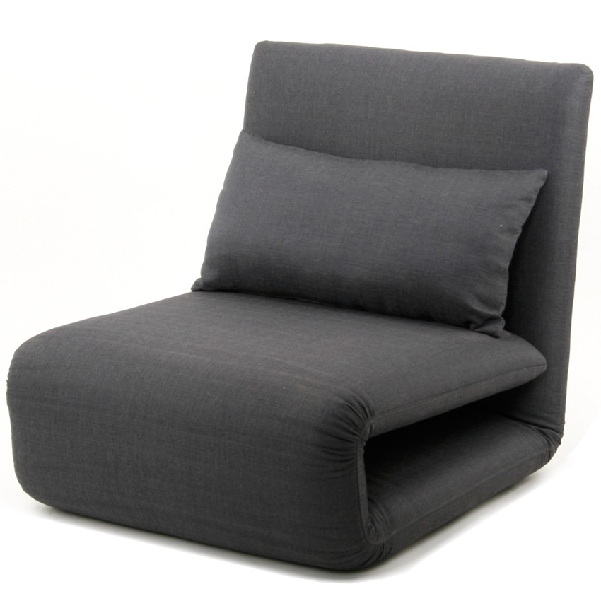 Comfortable Grey Single Sleeper Chair Which Can Serve As Daybed With A Cushions For Living