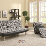 Comfortable Pattern Chaise Longue For Living Room Black And White Pattern Chaise Longue Soft Color Wall Light Color Fur Carpet Historical Wall Pictures Natural Plant In Pot