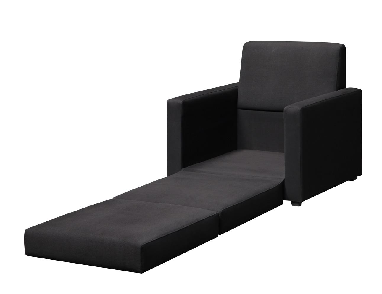 compact and multifunctional black Single Sleeper Chair which can function  as day bed for living room