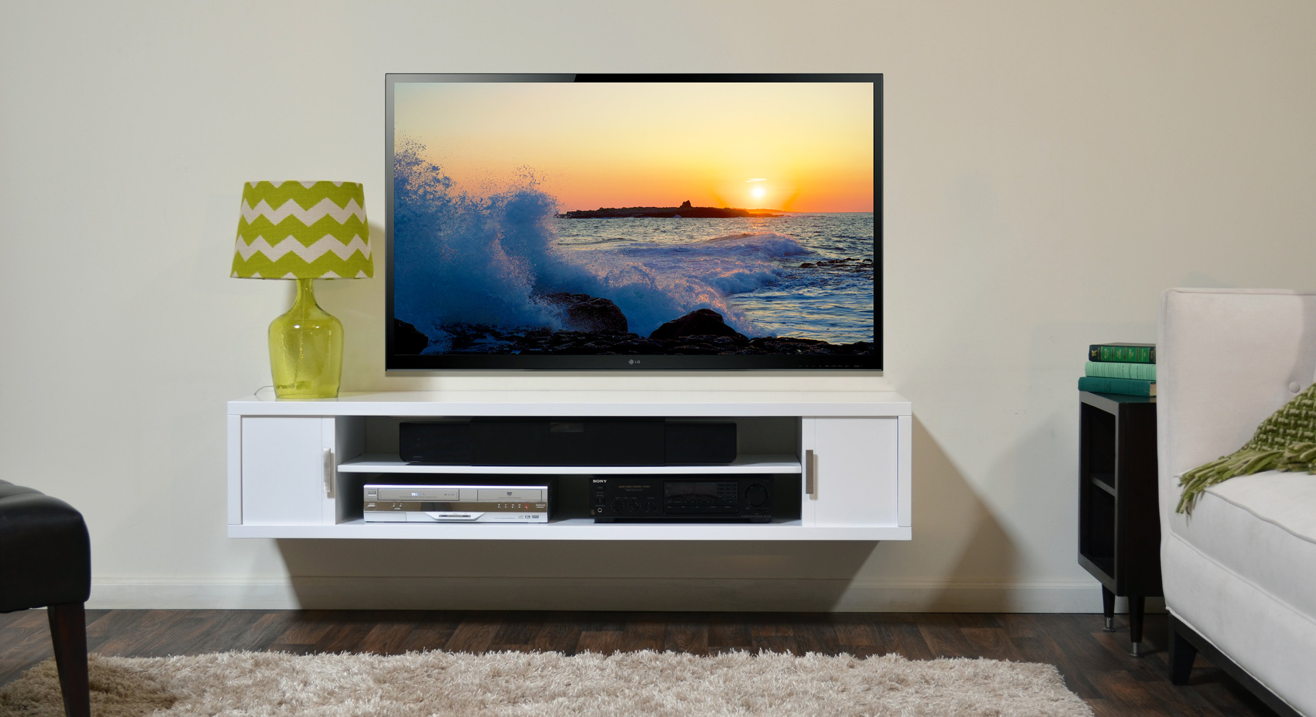 flat screen tv wall cabinets offering space-saving furniture ideas