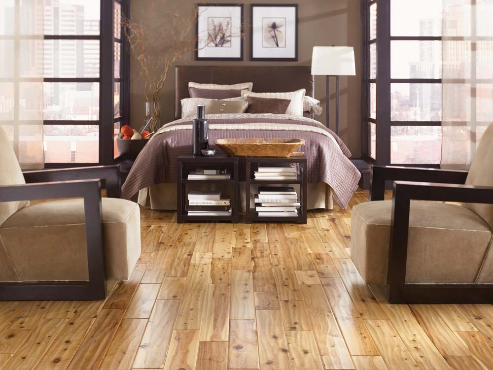 Cool Bedroom Ideas With Engineered Hardwood Flooring Pros And Cons  Decorated With Comfy Divan Bed With