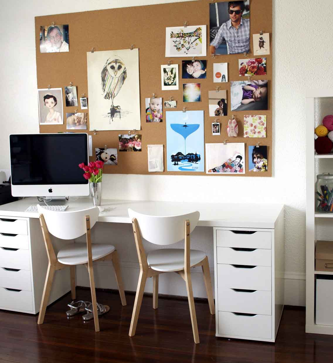 Get a sophisticated centerpiece in your home office by for Cool home office desk