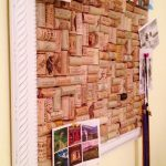 cool cork boards ideas with beautiful white frame and some photos and wine cork bulletin board